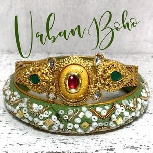 Vintage beaded bangle bracelet lot bundle India